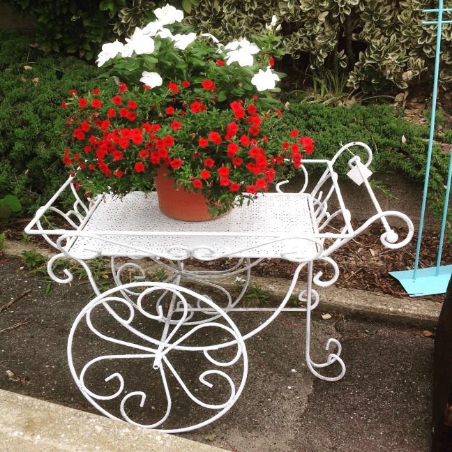 #flower#cart#wrought iron