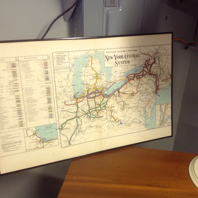 Vintage railroad map of New York to Midwest